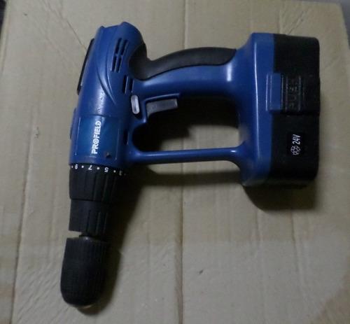 parafusadeira recarregável 24v cordless drill 0,900 rpm 13mm