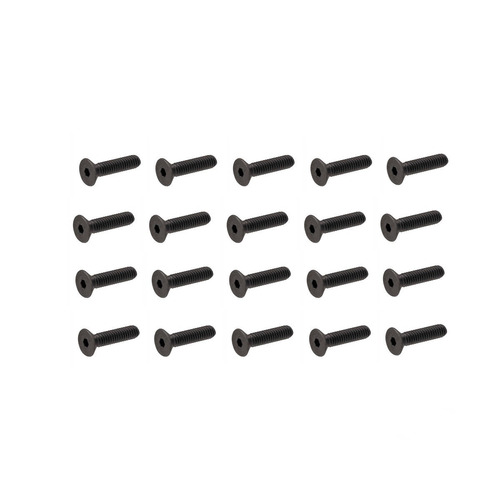 parafuso 2.5 x 12mm allen flat 25 parafusos