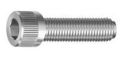 parafuso allen inox com cabeça cilindrica m6 x 10mm 50 peças