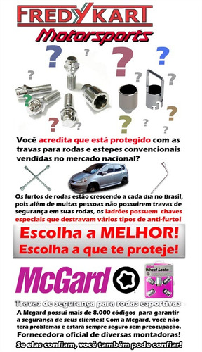 parafuso anti-roubo para rodas mcgard - 27179 gm