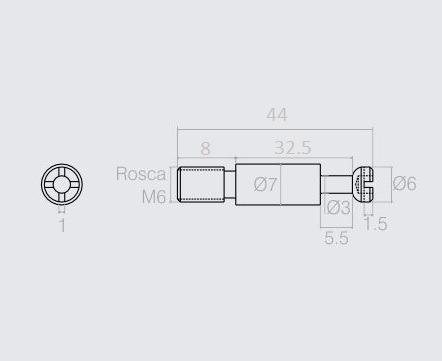 parafuso bigfix montagem de móveis 4 conjuntos oferta r1978