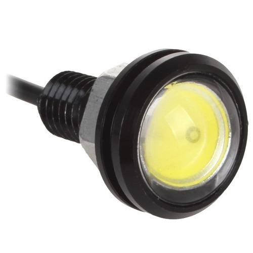 parafuso luz de led placa moto ou carro olho de gato o par