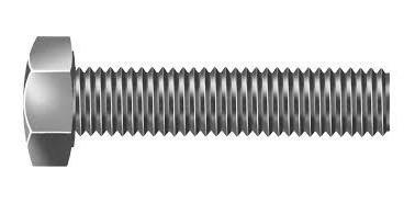 parafuso sextavado inox 1/2 x 2.1/2 - pacote com 10 peças