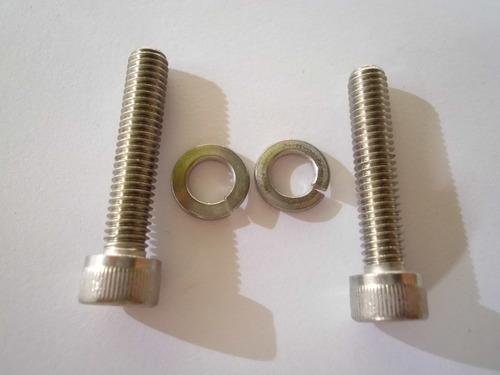 parafusos aço m6 x 30 com arruelas freios disco bicicletas