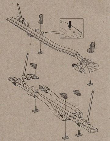 parafusos instalar suporte thule 532 e 561 perfil t 889-3