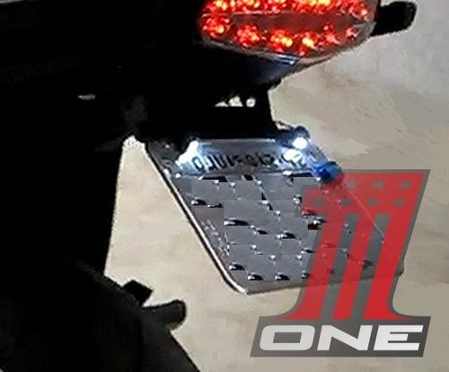 parafusos luz de led placa moto e carro universal o par