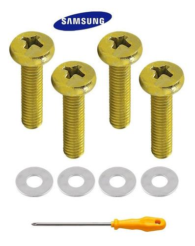 parafusos suporte tv samsung jg 4 peças m8 x 45 + chave phs