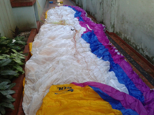 paraglider de voo duplo k3 sol equip. completo