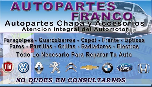 paragolpe ford fiesta 2007 2008 2009 2010 s/agujero