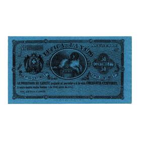 Paraguai, 50 Centimos, 1870, P.s181, Fe, Rara!