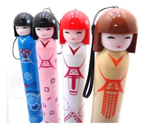 paraguas  de kokeshi cotillon despedida fiesta moda