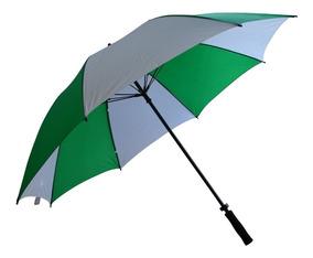 correr zapatos imágenes detalladas despeje Paraguas Reforzado Gigante Verde Y Blanco Sistema Wind Proof