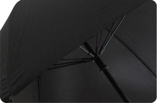 paraguas grande negro reforzado con sistema anti viento