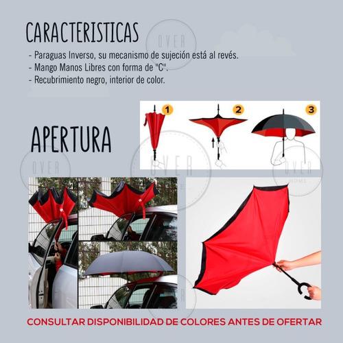 paraguas invertido reversible original varios colores pc