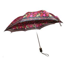 Paraguas Mujer Pierre Cardin Estampado Estructura Retractil
