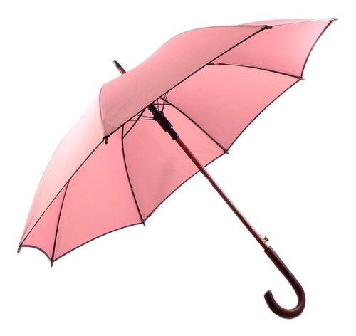 paraguas normal briganti automático madera negro -  acc06860