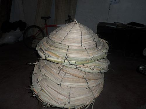 paraguas para plantas o decoracion en totora oferta en 45 cm