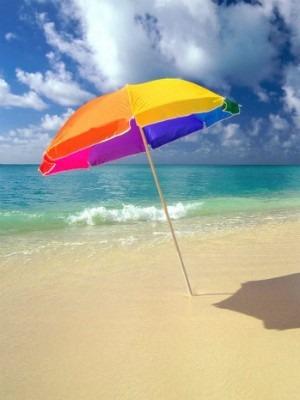 paraguas sombrilla tapasol altura 2.4m con estaca playera