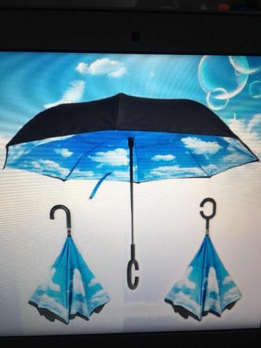 paraguas tipo c inversa doble capa de sombrilla - consulta