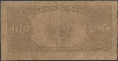 paraguay 100 pesos l1923 p168a