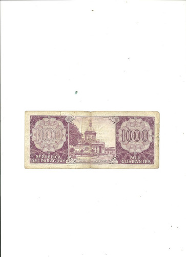 paraguay: billete 1000 guaraníes año 1952
