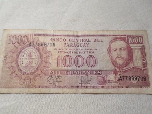 paraguay - billete de 1000 guaraníes
