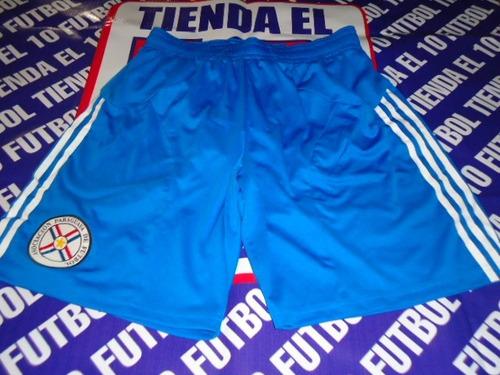 paraguay short de juego azul 1