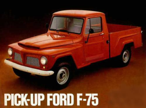 paralama interno caçamba f-75 pick-up willys ford par