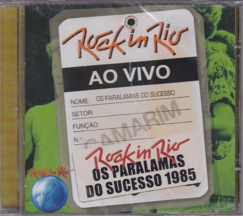 paralamas do sucesso - cd ao vivo rock in rio - lacrado