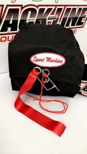 paraquedas automotivo sport machine + suporte + acionador