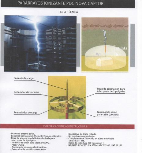 pararrayos ionizantes nova captor 60 cobertura 150m de radio