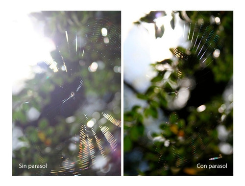 parasol 49mm reversible petalo de flor lente sony canon