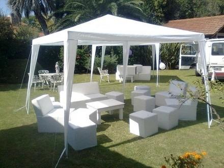 parasol blanco toldo carpa negocio tienda terraza asados ok