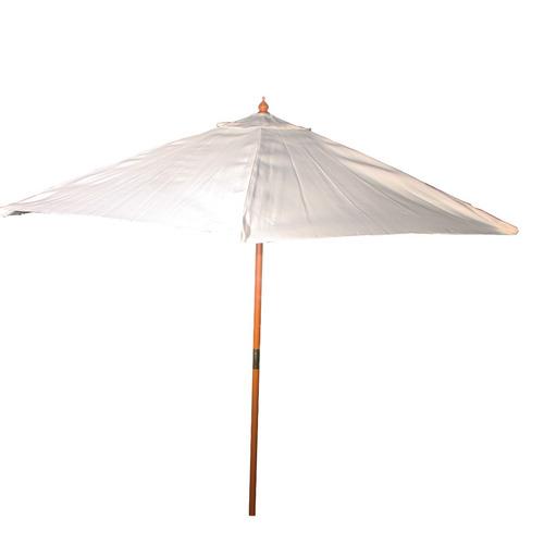 parasol de madera 3.00m tela natural 180gr.