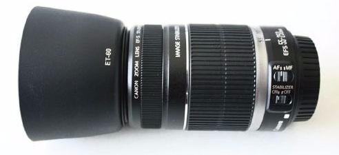 4220753d6a599 Parasol Et-60 Lentes Canon (75-300mm