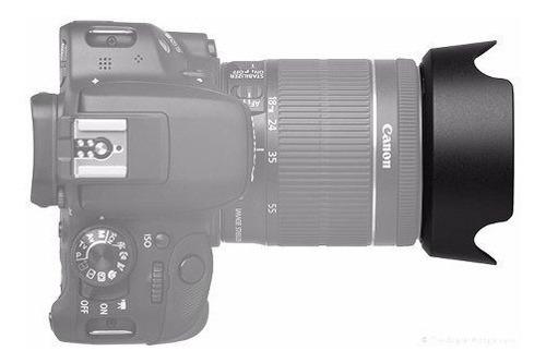 parasol ew-60c ii lente canon ef-s 18-55mm 3.5-5.6 lens hood