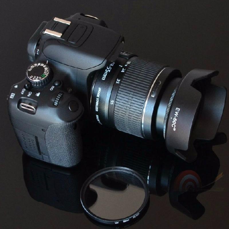 d2291e59c7aa0 parasol ew-63c montable para lente canon de ø58mm 18-55mm!! Cargando zoom.