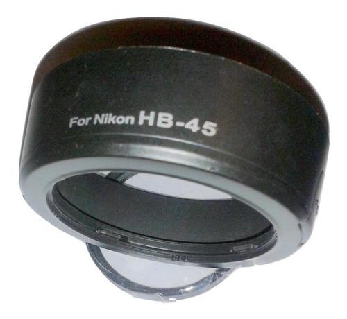 parasol hb-45 + filtro uv 52mm para lente nikon 18/55