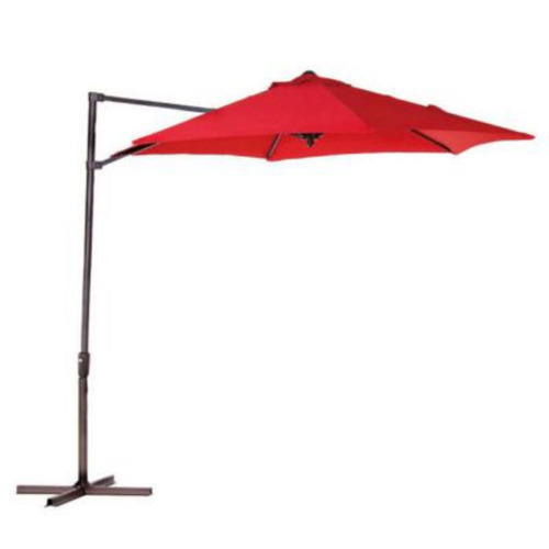 parasol lateral 2.7 metros rojo home collection