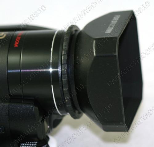 parasol rectangular 25 mm videocamara camcorder