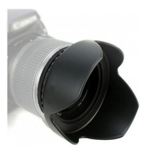 parasol universal para lentes 52mm tulipa - canon nikon sony
