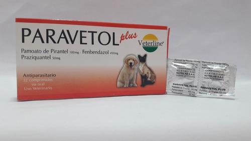 paravetol plus perro y gato caja32 pastillas antiparasitario
