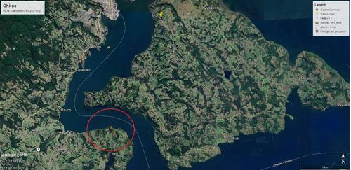 parcela canal de castro chiloe 500 mts de costa