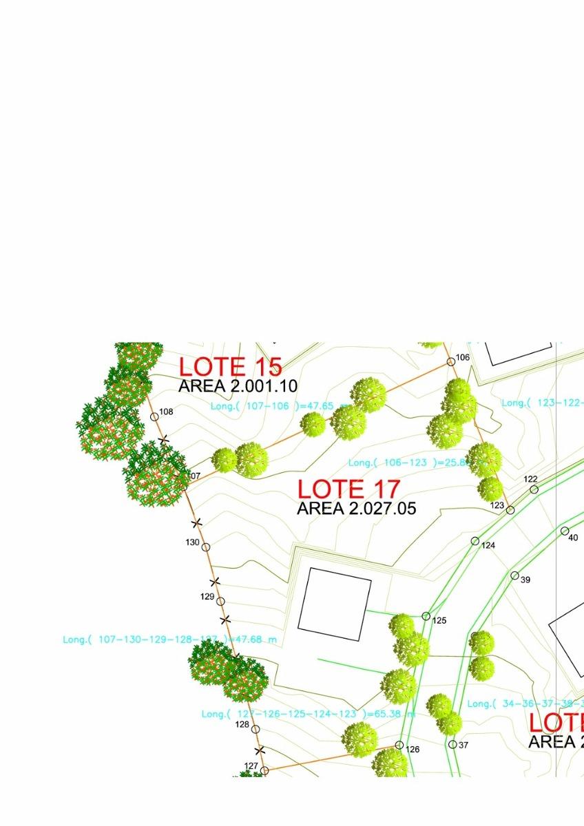 parcelación privilegio lote 17. 2027 m2