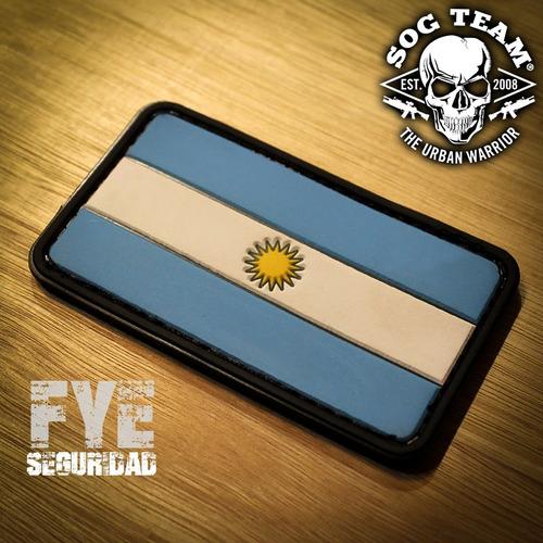 parche bandera argentina pvc baja visibilidad clasica