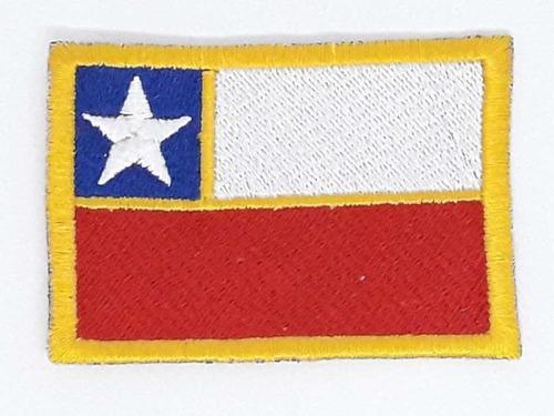 parche bandera chile borde amarillo