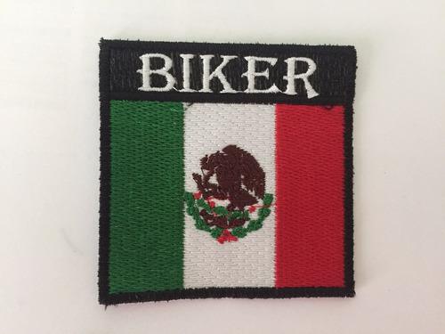 parche bandera mexico biker m parche biker