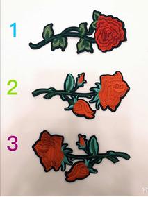 Rosa grande rosa roja fucsia verde lentejuelas Labios Labios Boca Arte Pop Coser Parche