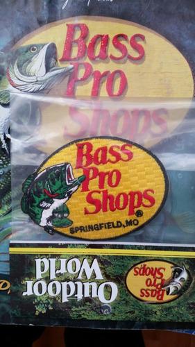 parche bordado bass pro shops 9.5cm x 7cm