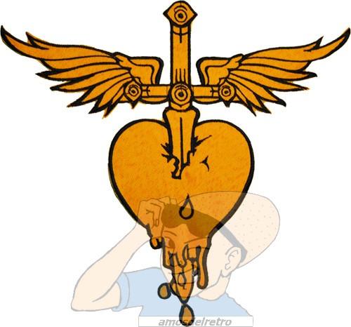 Parche Bordado Bon Jovi Corazon Con Alas Espalda Rock Adr 35000